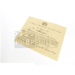 Once Upon a Time - Killian Jones's Letter of Service Prop (0680)