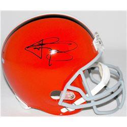 Johnny Manziel Signed Browns Full-Size Helmet (Panini COA)