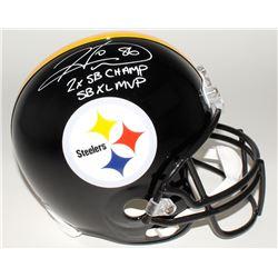 "Hines Ward Signed Steelers Full-Size Helmet Inscribed ""2x SB Champs""  ""SB XL MVP"" (JSA COA)"