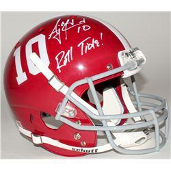 "AJ McCarron Signed Alabama Crimson Tide Full-Size Helmet Inscribed ""Roll Tide!"" (Radtke COA)"