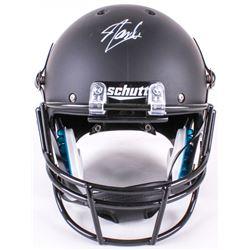 """Stan Lee Signed Custom Matte Black """"Venom"""" Full-Size Helmet (Lee Hologram)"""