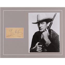 Gary Cooper Signed 11x14 Custom Matted Cut Display (JSA LOA)