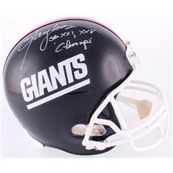 "Lawrence Taylor Signed Giants Full-Size Helmet Inscribed ""SB XXI, XXV Champs"" (Radtke COA)"