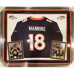 Peyton Manning Signed 36x44 Custom Framed Jersey (Fanatics  Manning Hologram)