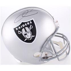 Derek Carr Signed Raiders Full-Size Helmet (Radtke COA  NSD COA)