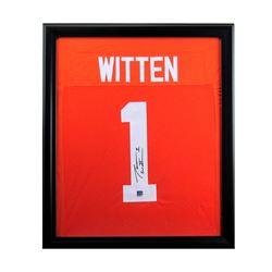 Jason Witten Signed 27x33 Custom Framed Jersey (Radtke COA)