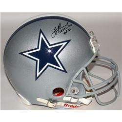 "Troy Aikman Signed Cowboys Full-Size Authentic On-Field Helmet Inscribed ""SB XXVII MVP""  ""HOF '06"" ("