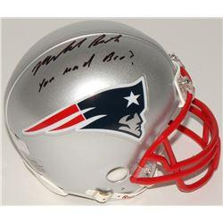 "Malcolm Butler Signed Patriots Mini-Helmet Inscribed ""You Mad Bro?"" (Radtke COA  Fanatics Hologram)"