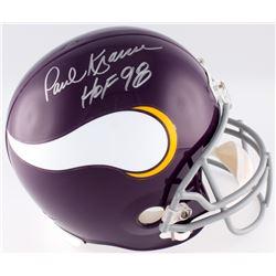 """Paul Krause Signed Vikings Full-Size Helmet Inscribed """"HOF 98"""" (JSA COA)"""