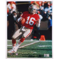 Joe Montana Signed 49ers 16x20 Photo (Montana Hologram)
