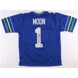 "Warren Moon Signed Seahawks Jersey Inscribed ""HOF 06"" (Radtke COA)"