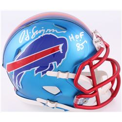 "O.J. Simpson Signed Bills Blaze Speed Mini Helmet Inscribed ""H.O.F. 85"" (JSA COA)"