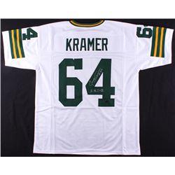 Jerry Kramer Signed Jersey Inscribed  S.B. I + II  (Radtke COA)