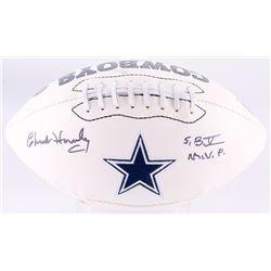 "Chuck Howley Signed Cowboys Logo Football Inscribed ""S.B. V M.V.P."" (JSA COA)"