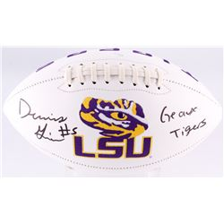 Derrius Guice Signed LSU Tigers Logo Football Inscribed  Geaux Tigers  (JSA COA)