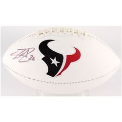 Lamar Miller Signed Texans Logo Football (JSA COA)