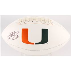 Lamar Miller Signed Miami Hurricanes Logo Football (JSA COA)