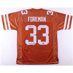 "D'Onta Foreman Signed Texas Longhorns Jersey Inscribed ""Hook Em Horns""  ""2016 Doak Walker"" (Tri-Star"