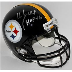 "Kevin Greene Signed Steelers Full-Size Helmet Inscribed ""HOF 16"" (Radtke COA)"
