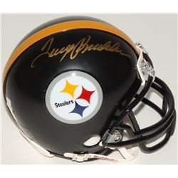 Terry Bradshaw Signed Steelers Throwback Mini Helmet (Bradshaw Hologram)