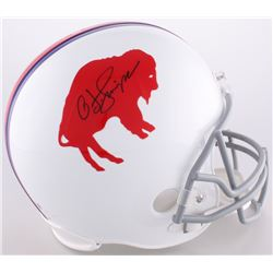 O.J. Simpson Signed Bills Throwback Full-Size Helmet (JSA COA)