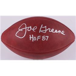 Joe Greene Signed Official Super Bowl X Game Ball Inscribed  HOF 87  (Radtke COA)