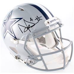 Dak Prescott Signed Cowboys Full-Size Speed Helmet (JSA COA  Prescott Hologram)