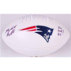 Malcolm Butler Signed Patriots Logo Football Inscribed  You Mad Bro?  (Radtke COA  Fanatics Hologram