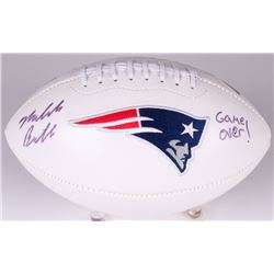 Malcolm Butler Signed Patriots Logo Football Inscribed  Game Over!  (Radtke COA  Fanatics Hologram)