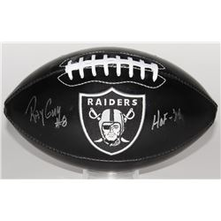 Ray Guy Signed Raiders Logo Football Inscribed  HOF -'14  (JSA COA)