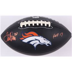 "Terrell Davis Signed Denver Broncos Logo Football Inscribed ""HOF 17"" (Radtke COA  Davis Hologram)"