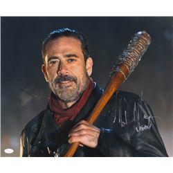 "Jeffrey Dean Morgan Signed ""The Walking Dead"" 16x20 Photo Inscribed ""Negan"" (JSA COA)"