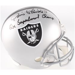 "Jim Plunkett Signed Raiders Full-Size Helmet Inscribed ""2X Super Bowl Champs"" (Radtke COA)"