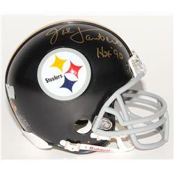 "Jack Lambert Signed Steelers Throwback Mini Helmet Inscribed ""HOF 90"" (Radtke COA  Lambert Hologram)"