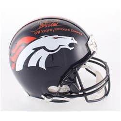 """Terrell Davis Signed Broncos Full-Size Authentic On-Field Helmet Inscribed """"SBXXXII, SBXXXIII Champs"""