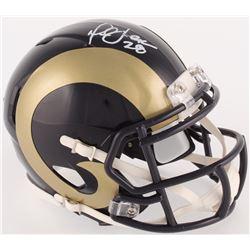 Marshall Faulk Signed Rams Mini Speed Helmet (Radtke COA)