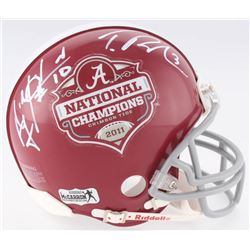 AJ McCarron  Trent Richardson Signed Alabama Crimson Tide 2011 National Champions Mini-Helmet (Radtk