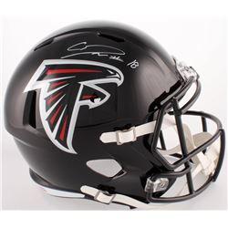 Calvin Ridley Signed Falcons Full-Size Speed Helmet (Beckett COA)