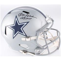 """Roger Staubach Signed Dallas Cowboys Full-Size Speed Helmet Inscribed """"SB VI MVP"""" (JSA COA)"""