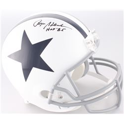 "Roger Staubach Signed Dallas Cowboys Throwback Full-Size Helmet Inscribed ""HOF '85"" (JSA COA)"