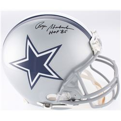 """Roger Staubach Signed Dallas Cowboys Full-Size Authentic On-Field Helmet Inscribed """"HOF '85"""" (JSA CO"""