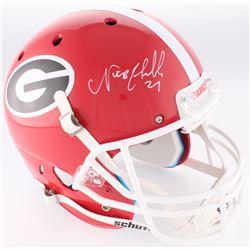 Nick Chubb Signed Georgia Bulldogs Full Size Helmet (Radtke COA)