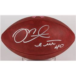 """Mike Alstott Signed Breast Cancer Awareness """"The Duke"""" Official NFL Game Ball (Radtke COA)"""