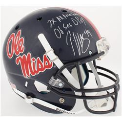"""Patrick Willis Signed Ole Miss Rebels Full-Size Helmet Inscribed """"2x All American""""  """"06 Sec DPoy"""" (R"""