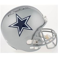 """Michael """"Playmaker"""" Irvin Signed Cowboys Full-Size Helmet (Radtke COA)"""