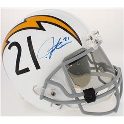 LaDainian Tomlinson Signed Chargers Full-Size Throwback Helmet (Radtke COA  Tomlinson Hologram)
