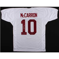 """AJ McCarron Signed Jersey Inscribed """"36-4 Career Record""""  """"3x National Champs (McCarron Hologram)"""