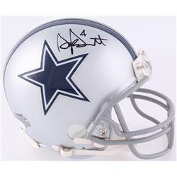 Dak Prescott Signed Cowboys Mini Helmet (JSA COA)