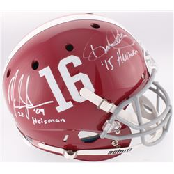 "Mark Ingram  Derrick Henry Signed Alabama Crimson Tide Full-Size Helmet Inscribed ""'09 Heisman""  ""'1"