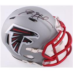 Deion Sanders Signed Falcons Mini Blaze Helmet (JSA COA)